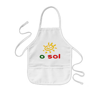 O Sol - The Sun in Portuguese Summer Vacation Kids' Apron