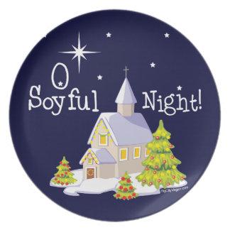 O Soyful Night Christmas Dinner Plates