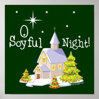 O Soyful Night Christmas Print