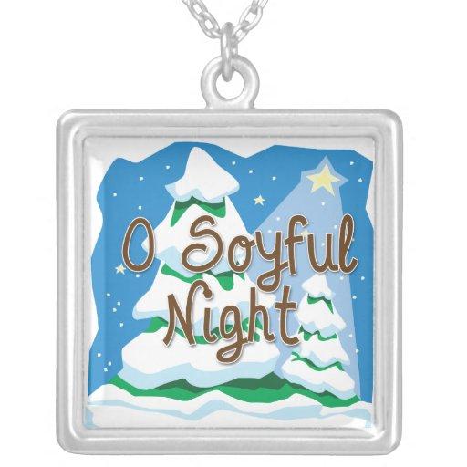 O Soyful Night Square Pendant Necklace