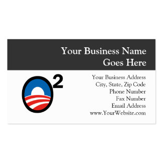 O Squared Obama's Second Term Business Card