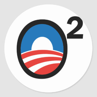 O Squared Obama's Second Term Classic Round Sticker