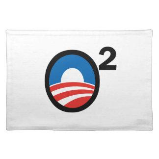 O Squared Obama's Second Term Cloth Place Mat