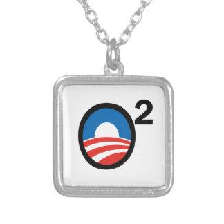 O Squared Obama's Second Term Square Pendant Necklace