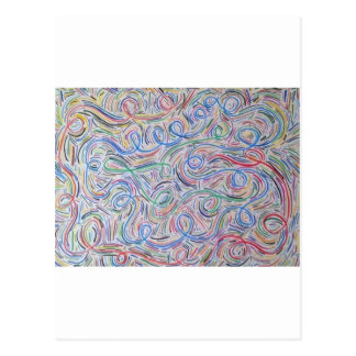 o squiggly line postcard