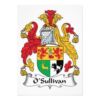 O Sullivan Family Crest Invites