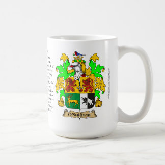 O'Sullivan, the Origin, the Meaning and the Crest Coffee Mug