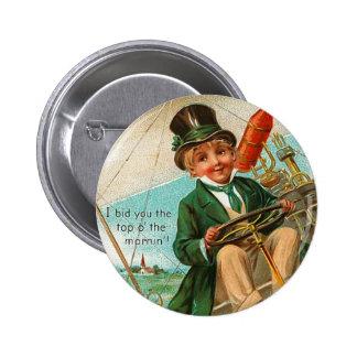 O superior del vintage el botón de la mañana pin redondo de 2 pulgadas