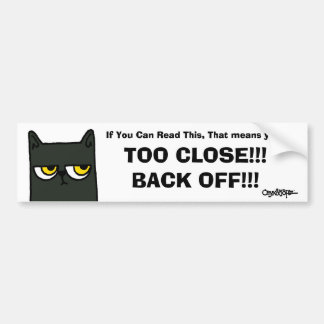 O&T Back Off Bumper Sticker