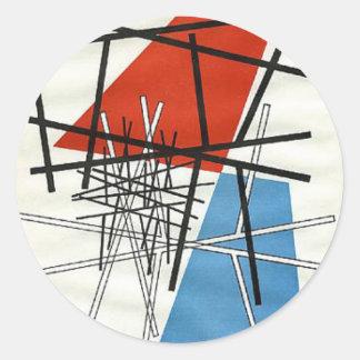 O. T.(Croisement de droites) Sophie Taeuber-Arp Classic Round Sticker