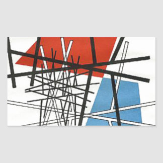 O. T.(Croisement de droites) Sophie Taeuber-Arp Rectangular Sticker