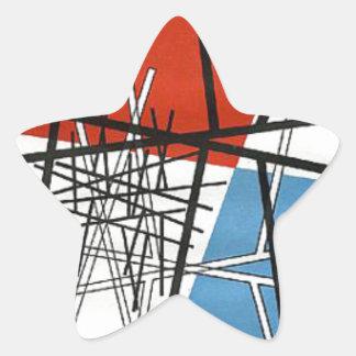 O. T.(Croisement de droites) Sophie Taeuber-Arp Star Sticker