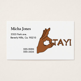 O Tay Finger Sign Business Card