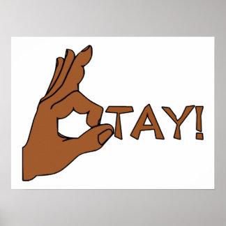 O Tay Finger Sign Print