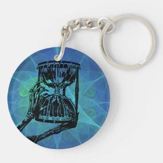 O tempo e a morte Double-Sided round acrylic keychain
