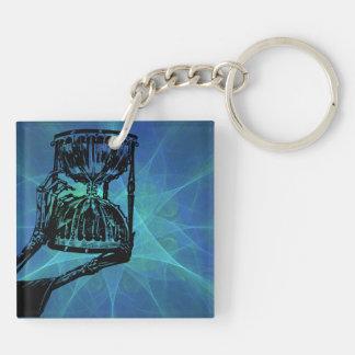 O tempo e a morte Double-Sided square acrylic keychain
