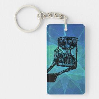 O tempo e a morte Single-Sided rectangular acrylic keychain