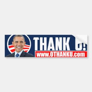 O THANK U Bumper Sticker