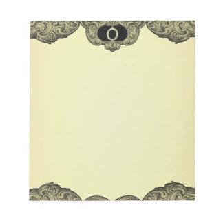 O - The Falck Alphabet (Golden) Note Pad