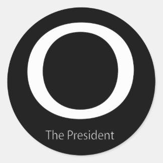 O THE PRESIDENT CLASSIC ROUND STICKER