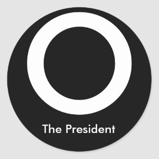 O The President Classic Round Sticker