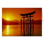 O-Torii Gate, Itsukushima shrine, Miyajima, Greeting Card