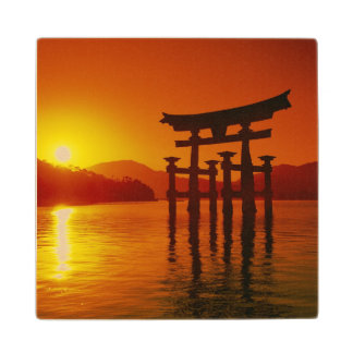 O-Torii Gate Itsukushima shrine Miyajima Wood Coaster