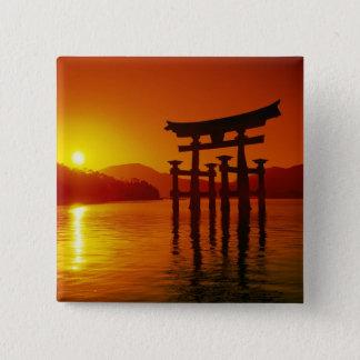 O-Torii Gate, Itsukushima shrine, Miyajima, Pinback Button