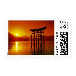O-Torii Gate, Itsukushima shrine, Miyajima, Postage