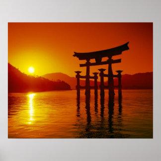 O-Torii Gate, Itsukushima shrine, Miyajima, Poster