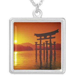 O-Torii Gate, Itsukushima shrine, Miyajima, Silver Plated Necklace