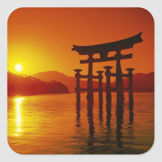 O-Torii Gate, Itsukushima shrine, Miyajima, Square Sticker