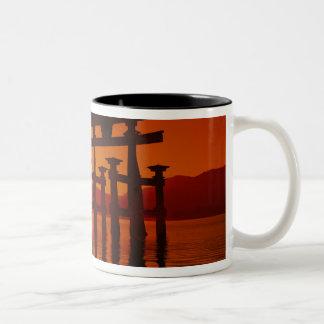 O-Torii Gate, Itsukushima shrine, Miyajima, Two-Tone Coffee Mug