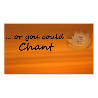 """O usted podría cantar"" a SGI la tarjeta de visita"