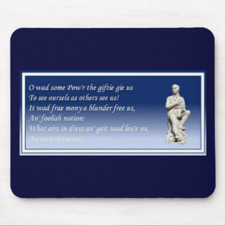 O Wad Some Pow'r The Giftie Gie Us Mousepads