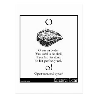 O was an oyster postcard