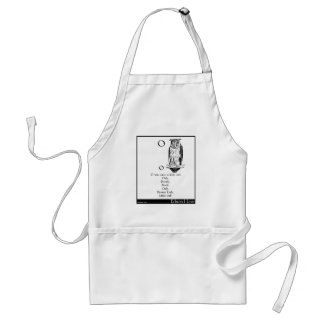 O was once a little owl adult apron