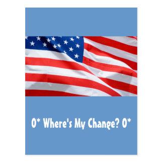O* Where's My Change? O* Postcard