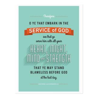 O Ye That Embark. LDS postcard