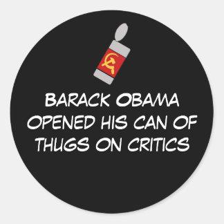 oabamscanofthugs, ope de Barack Obama… - Pegatina Redonda