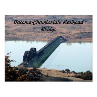 Oacoma-Chamberlain Railroad Bridge Postcard