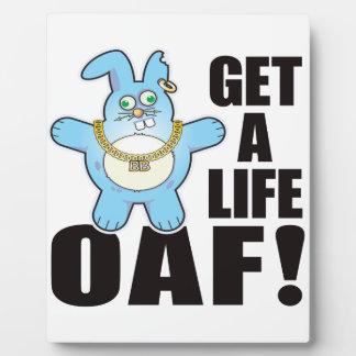 Oaf Bad Bun Life Display Plaque