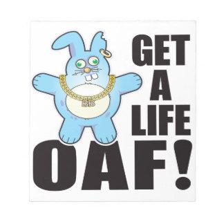 Oaf Bad Bun Life Notepads