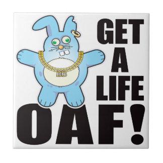 Oaf Bad Bun Life Small Square Tile