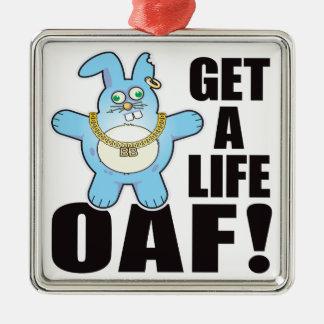 Oaf Bad Bun Life Square Metal Christmas Ornament