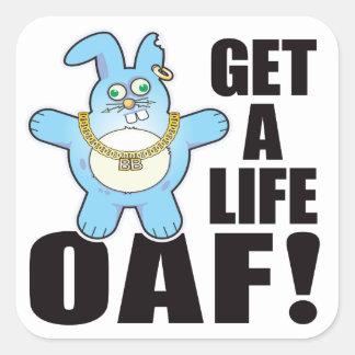 Oaf Bad Bun Life Square Sticker