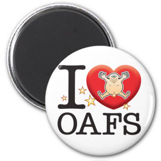 Oafs Love Man 2 Inch Round Magnet