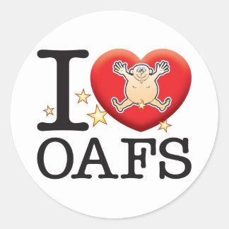 Oafs Love Man Classic Round Sticker
