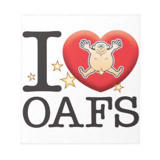 Oafs Love Man Memo Pads