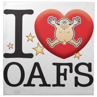 Oafs Love Man Printed Napkins